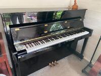 Upright Kawai (Linden) Piano - Black - Full sized keys/working pedals
