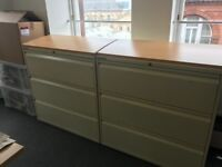 Large 3 drawer storage units x 4 for sale