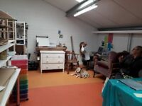 Large Artists studio space 3.5m x 4m in an Arts Collective near Totnes £40 per week