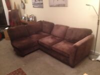 Corner Sofa very comfy clean separate into 2 pieces can delivery free manchester