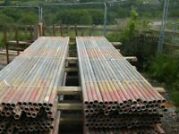 USED STEEL GALVANISED SCAFFOLD TUBES. 21ft long