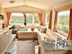 LOVELY BRIGHT STATIC CARAVAN ! PERFECT STARTER HOLIDAY HOME SITED ON 12 MONTH OWNERS PARK