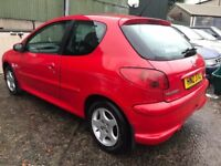 Good condition 2005 Peugeot 206 1.2 Sport 3dr ,long MOT till Aug 2018 ,credit cards accepted,