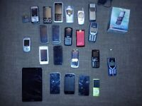 job lot of old mobile phone there is a tablet i phones and ipods touch ipod nano and more
