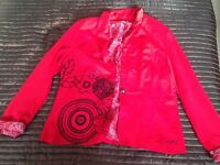 Desigual Lovely red jacket hardly worn