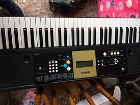 Yamaha electric organ c/w stand as new