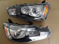 Original Right hand drive xenon headlights Mitsubishi Lancer EVO X 2008 - 2015 RHD UK version