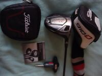 Excellent Titleist 910 D3 Driver with Shaft and Adaptor upgrade (inc torque wrench + case; h'cover)