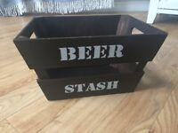"""""""Beer Stash"""" wooden box"""