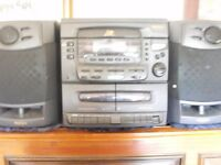 MATSUI STERO/HiFi WITH 3 CDS, 2 TAPES (HIGH SPEED DUBBING & AM/FM RADIO