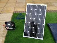 Inverter, solar panel and leisure battery