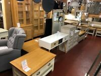 NEW furniture available TODAY from £49-£995 Open Sunday 1-3pm tables TV units Sideboards, cupboards