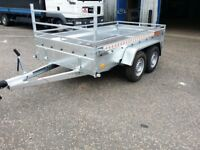 New car trailer twin axle with brakes 300 cm x 150 cm (10 x 5) 2700 kg £1600 + VAT