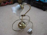 Brass effect bedside lamp