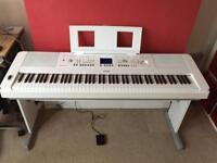 Yamaha DGX650 Digital Piano - White