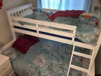 tripple bunk bed white wood