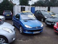 PEUGEOT 206 CC WITH POWER HOOD,