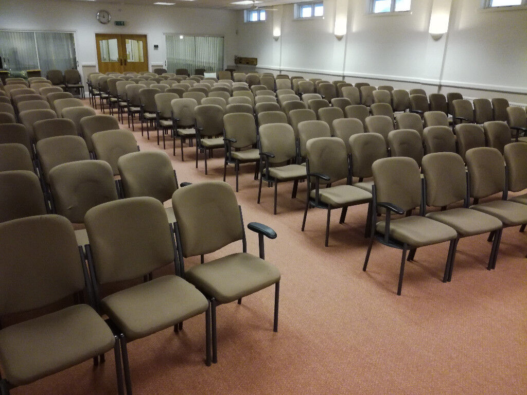 Light Brown Stackable Linking Seating Meeting Auditorium Conference Chairs 110 Available 3 50 Each In Bargoed Caerphilly Gumtree