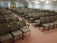 Light Brown Stackable Linking Seating Meeting Auditorium Conference Chairs 120 Available Only £5 Ea