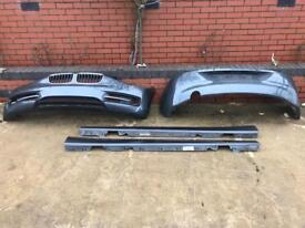 BMW F20 sport front + rear bumper and side skirts