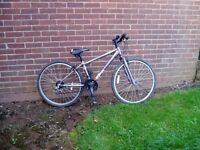 "MOUNTAIN BIKE, 14"" FRAME, 26"" ALLOY WHEELS, USED TWICE."