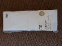 COT BED SHEETS FITTED (2) BRAND NEW