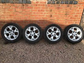 "Vauxhall Snowflake Alloys 16"" With 4 Good Tyres"