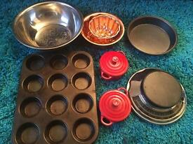 Baking tins and accessories bundle
