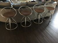 4 Chrome breakfast bar swivel stools excellent condition please look at my other items.