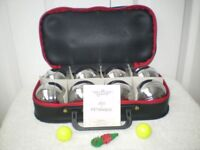 NEW - FRENCH BOULES 8 PETANQUE BALL SET & STURDY CARRY CASE