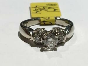 #64 14K BEAUTIFUL WHITE GOLD LADIES ENGAGEMENT *SIZE 4 3/4*- APPRAISED AT $2950.00!