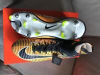 Nike mercurial sock boot. SizeUK 11 orange/black/white.SG