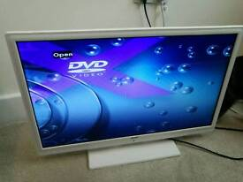"Bush 24"" TV with built in DVD player"