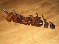 8 Vintage / Antique Rebate / Plough Plane Carpenters Old Tools. as seen in pictures.