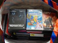 Large bag with various DVDs