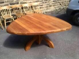 DUTCH SOLID OAK SHIELD SHAPE TABLE