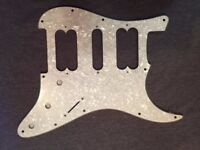 BRAND NEW Pearl Silver White 3 Ply HSH Scratchplate/Pickguard + Protective Film & Silver Conductive