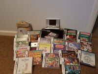 Silver Nintendo DS with Good Screen + Games