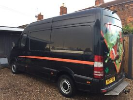 Mercedes sprinter, mwb, high roof, alarm, camera, body coloured bumpers, tow ball