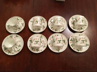 Wedgewood Wild Strawberry coffee cups and saucers -set of eight