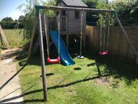 Little tikes large swing frame