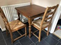 Kitchen table plus 2 chairs