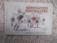 Wills cigarette cards - set of 50 Association Footballers 1935-6 in album
