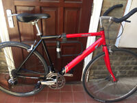 Road Bicycle, 21 Inch Frame, lever/downtube shifters (comes with bike lock)