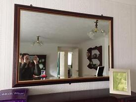 Dark wood/gold framed mirror