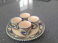 Vintage Honiton pottery eggcup set.