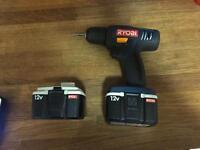 Ryobi 12v drill +2 batteries