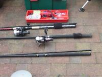 complete collection of coarse fishing tackle