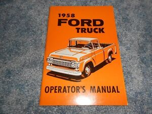 ford truck pickup owners manual operators glove box
