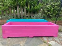 SALE PINK WOODEN PLANTER BOX FOR £30